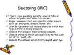 guessing mc