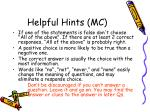 helpful hints mc