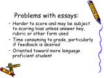 problems with essays