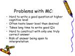 problems with mc