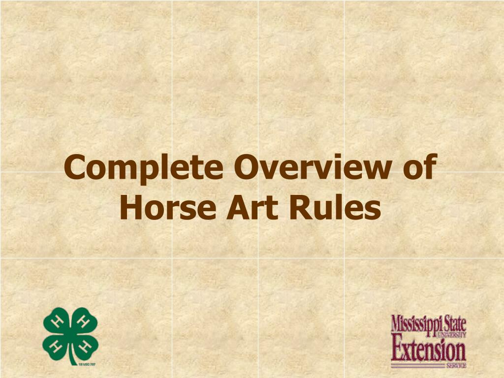 Complete Overview of Horse Art Rules