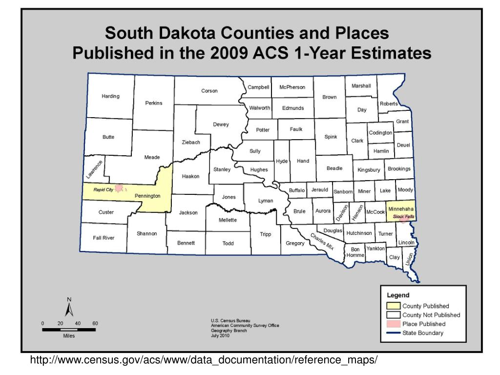 ACS 1-Year Estimates Available for Counties with Populations 65,000 or more