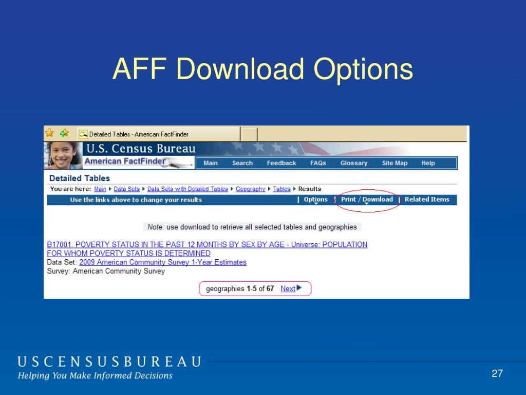 AFF Download Options