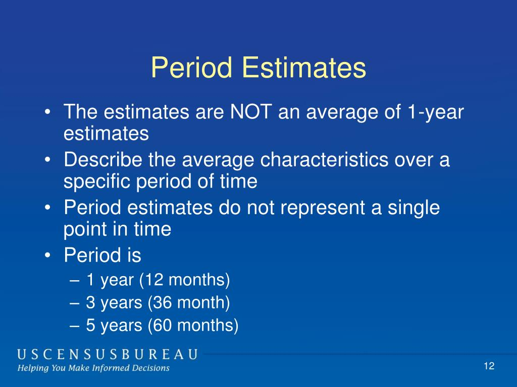 Period Estimates