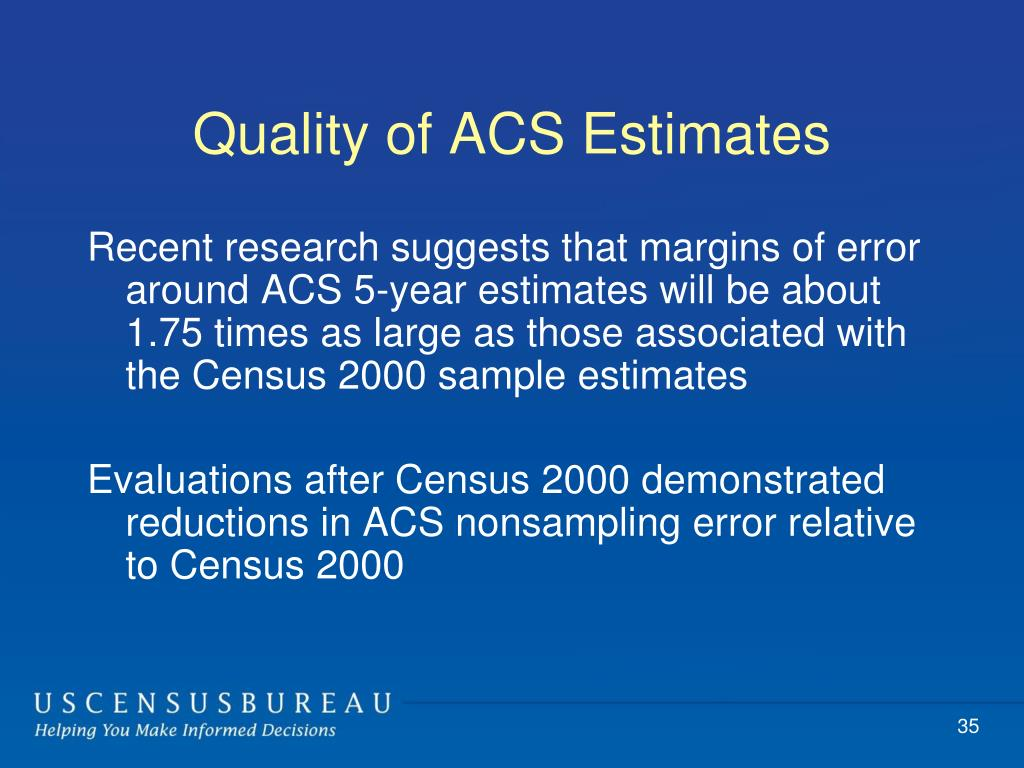 Quality of ACS Estimates