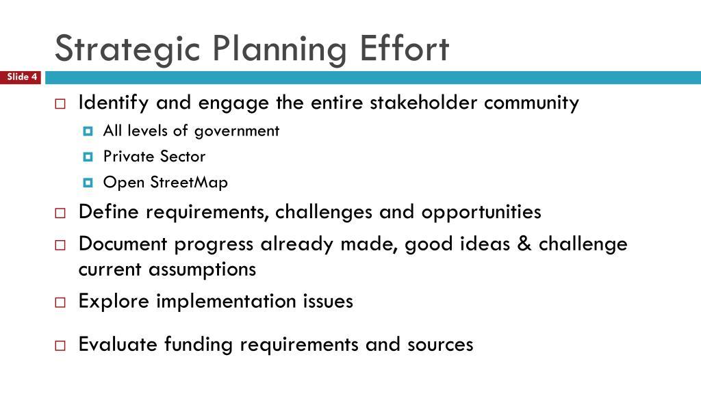 Strategic Planning Effort