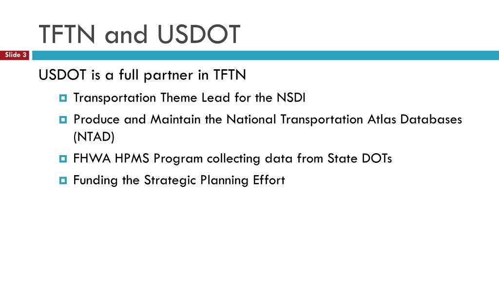 TFTN and USDOT