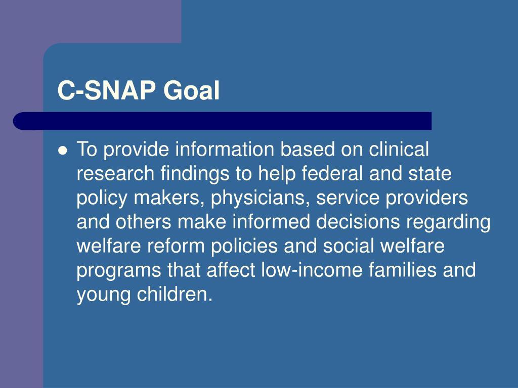 C-SNAP Goal