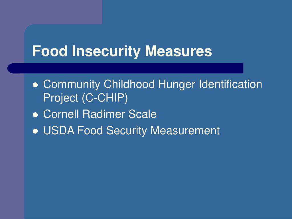 Food Insecurity Measures