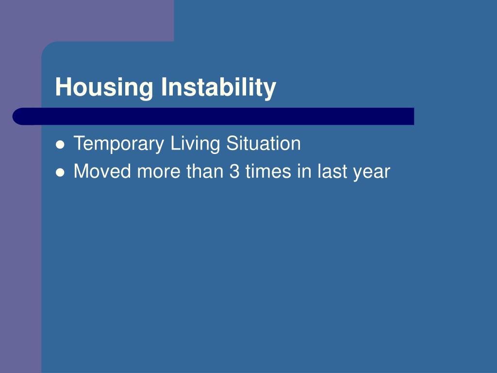 Housing Instability