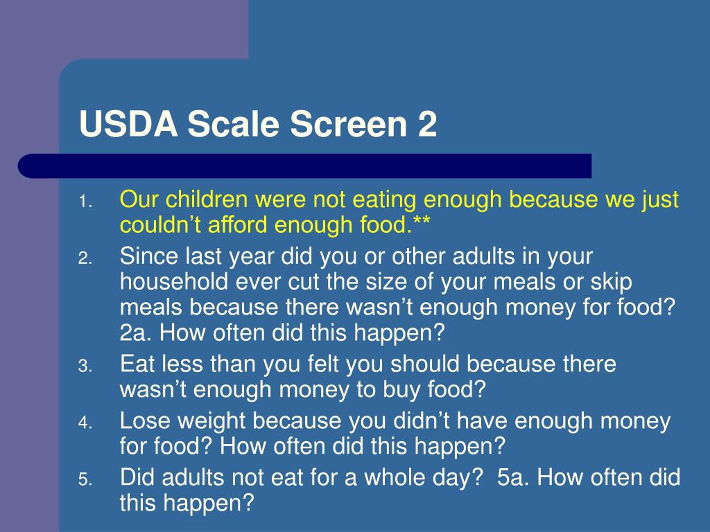 USDA Scale Screen 2