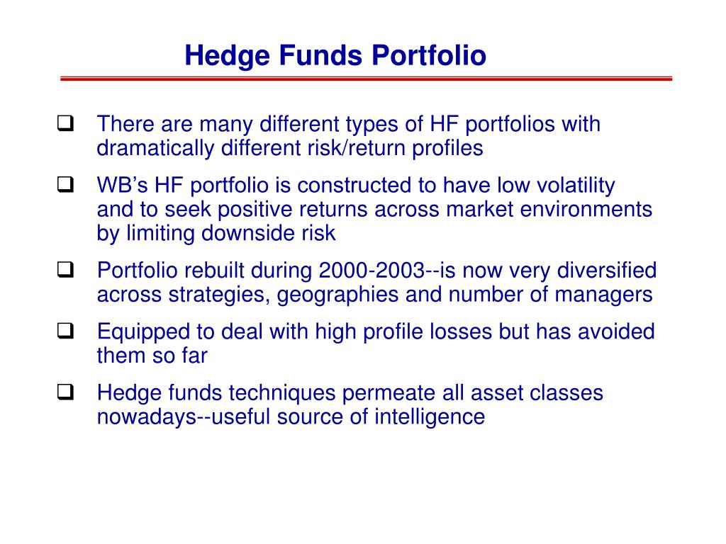 Hedge Funds Portfolio