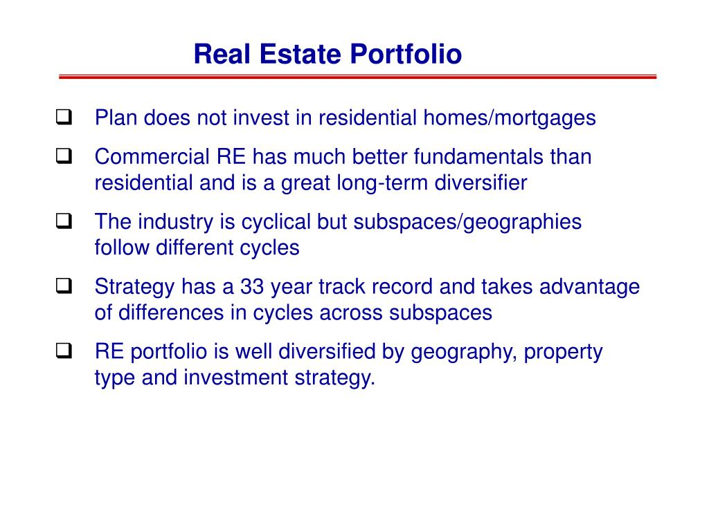 Real Estate Portfolio