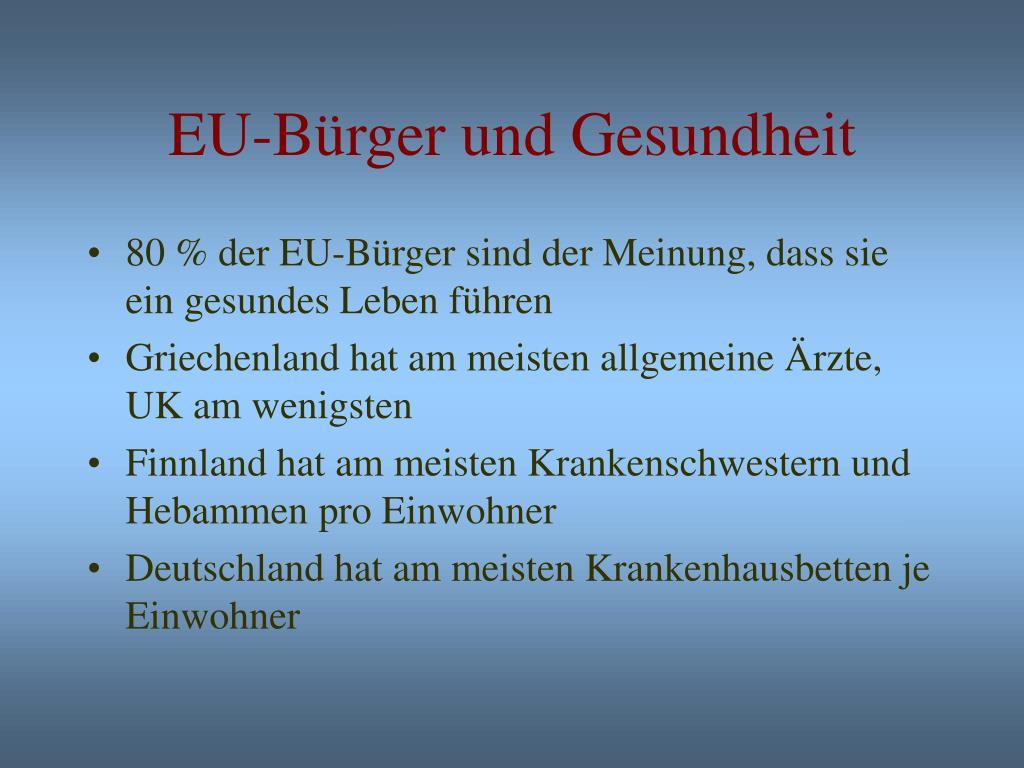 EU-Bürger und Gesundheit