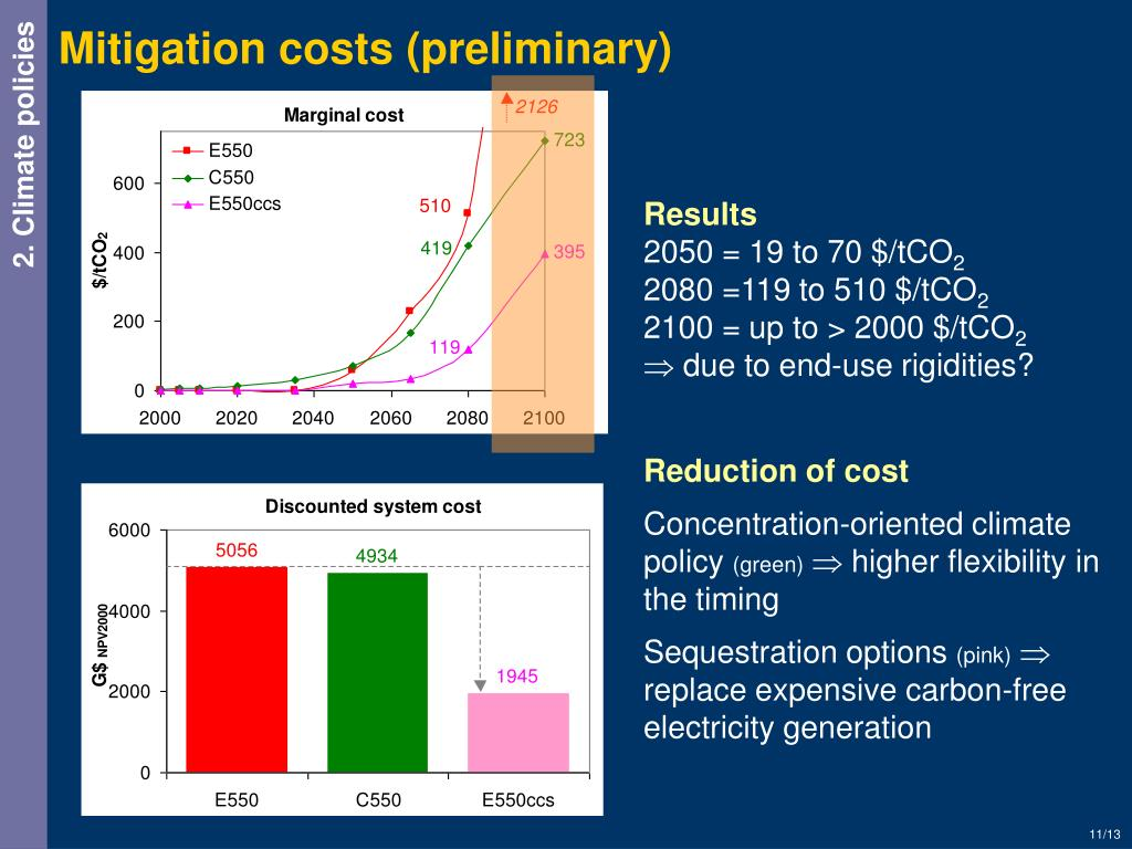 Mitigation costs (preliminary)
