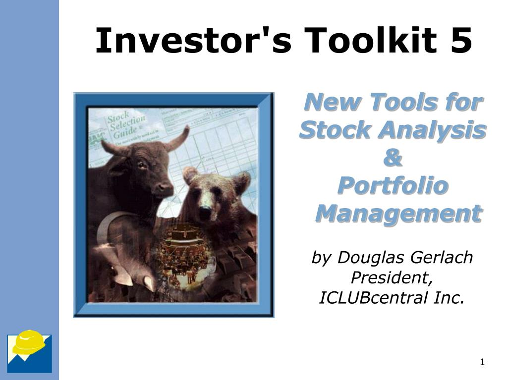 new tools for stock analysis portfolio management by douglas gerlach president iclubcentral inc