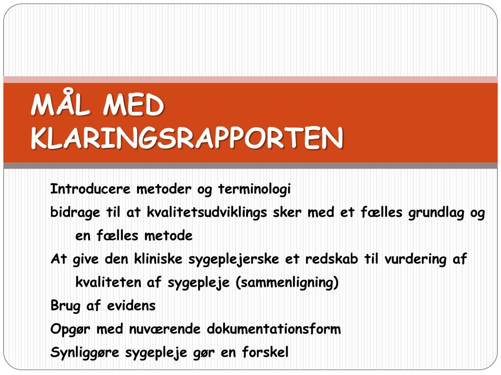 Introducere metoder og terminologi
