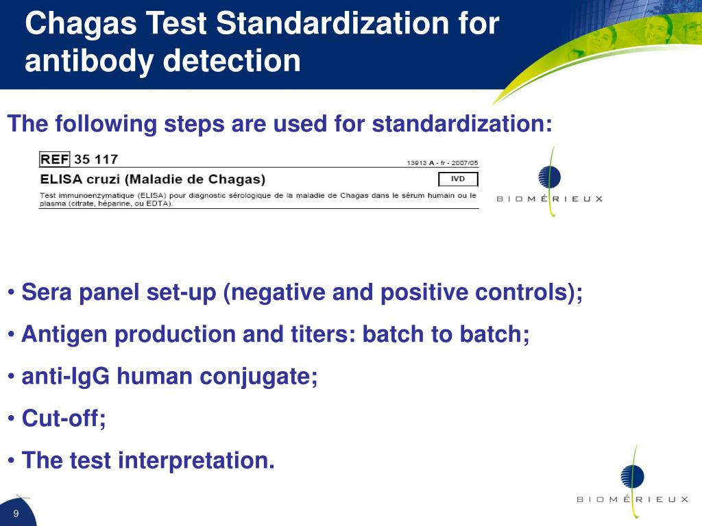 Chagas Test Standardization for antibody detection