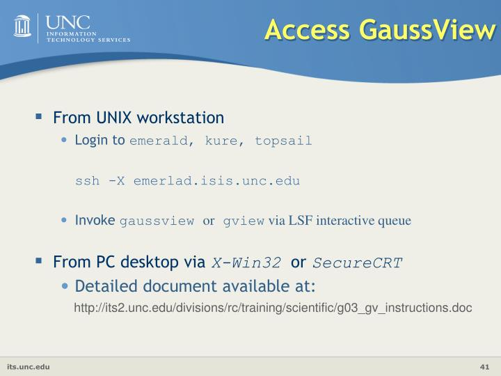 Access GaussView
