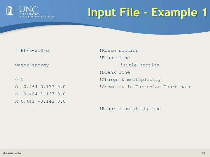 Input File – Example 1