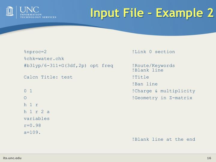 Input File – Example 2