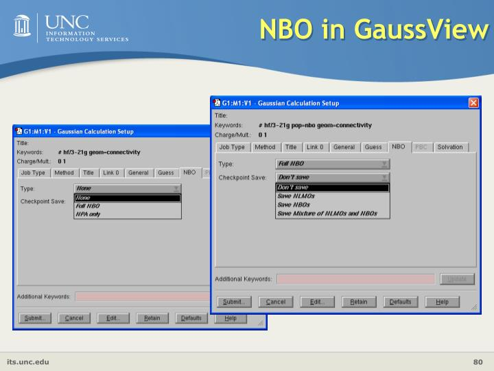 NBO in GaussView