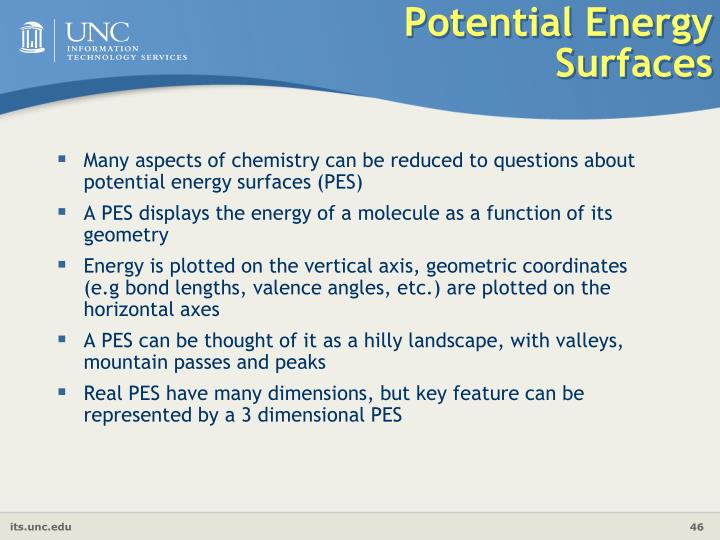 Potential Energy Surfaces