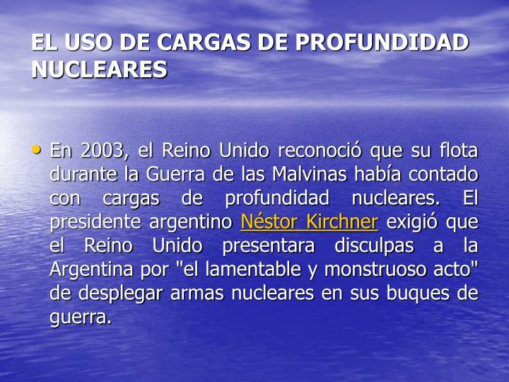 EL USO DE CARGAS DE PROFUNDIDAD NUCLEARES
