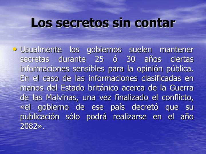 Los secretos sin contar