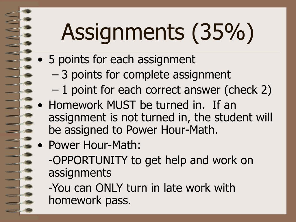 Assignments (35%)