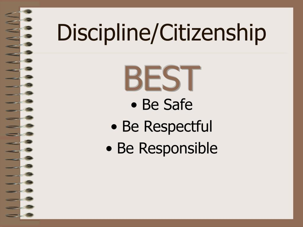 Discipline/Citizenship