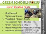 green building pilots
