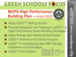 mcps high performance building plan since 2003