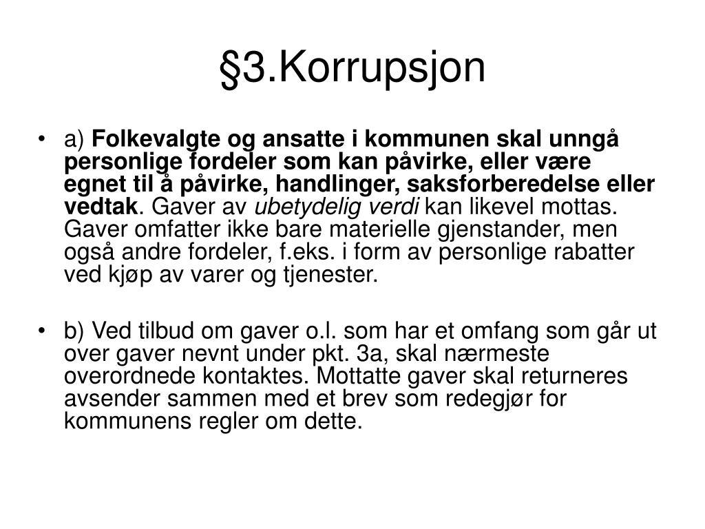 §3.Korrupsjon