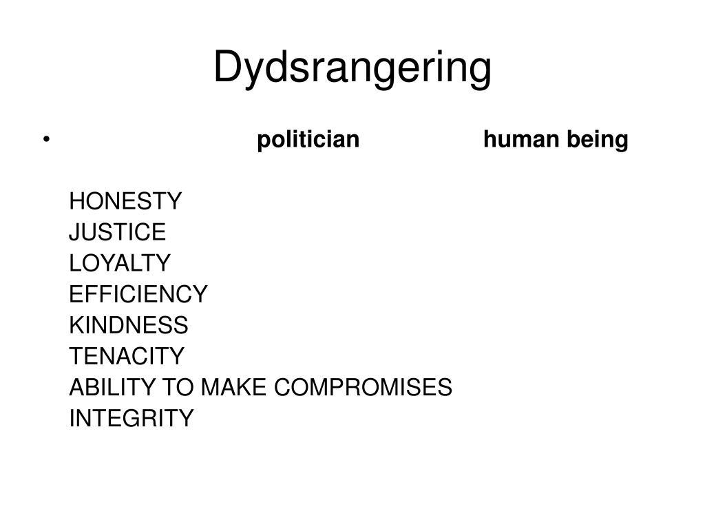 Dydsrangering