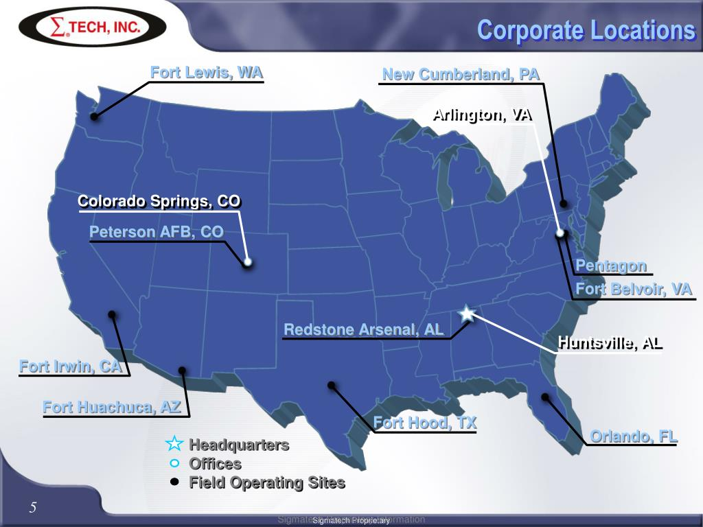 Corporate Locations