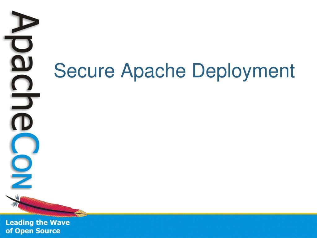 Secure Apache Deployment