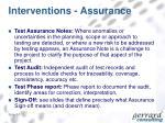 interventions assurance