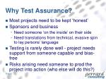 why test assurance