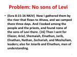 problem no sons of levi