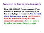 protected by god back to jerusalem