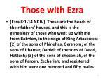 those with ezra