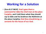 working for a solution