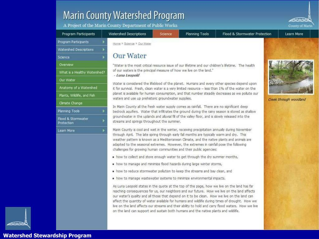 Watershed Stewardship Program