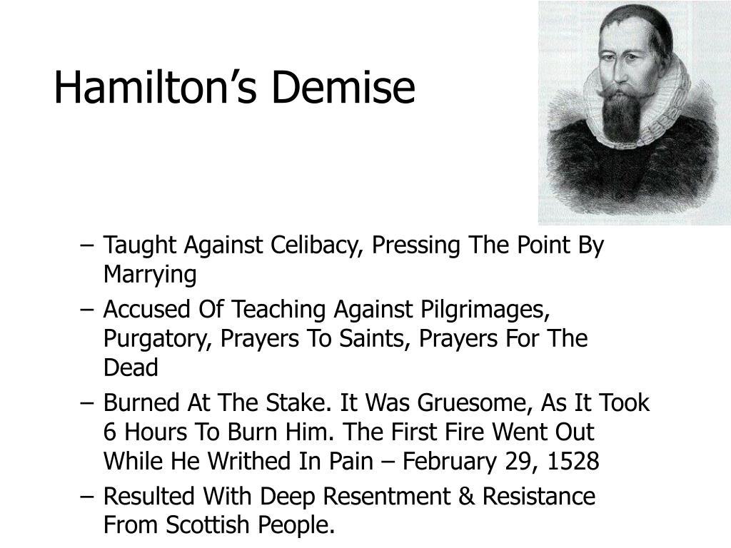 Hamilton's Demise