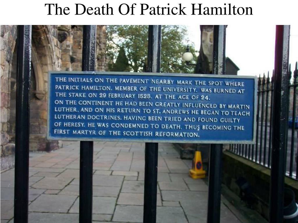 The Death Of Patrick Hamilton