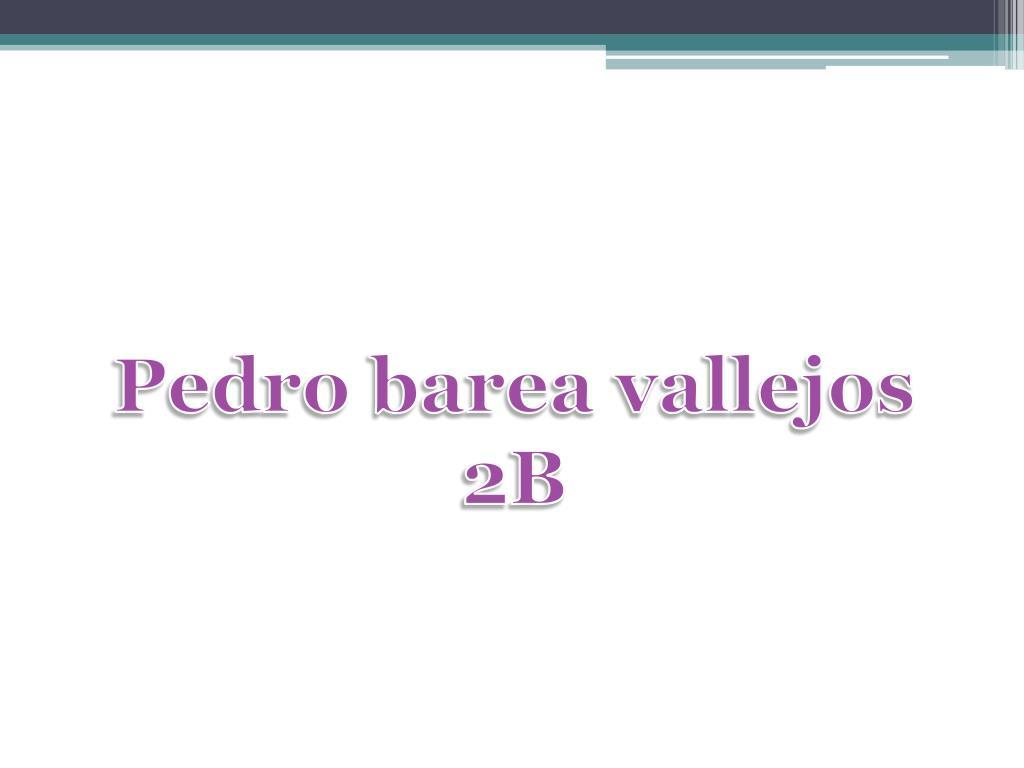 Pedro barea vallejos