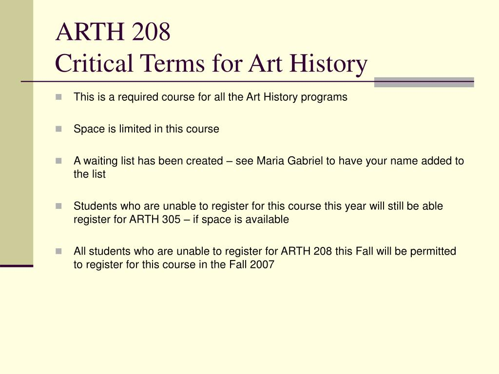 ARTH 208