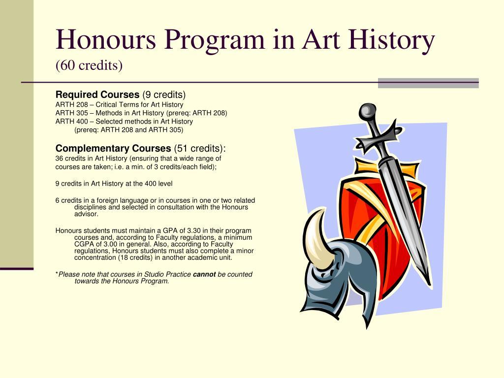 Honours Program in Art History