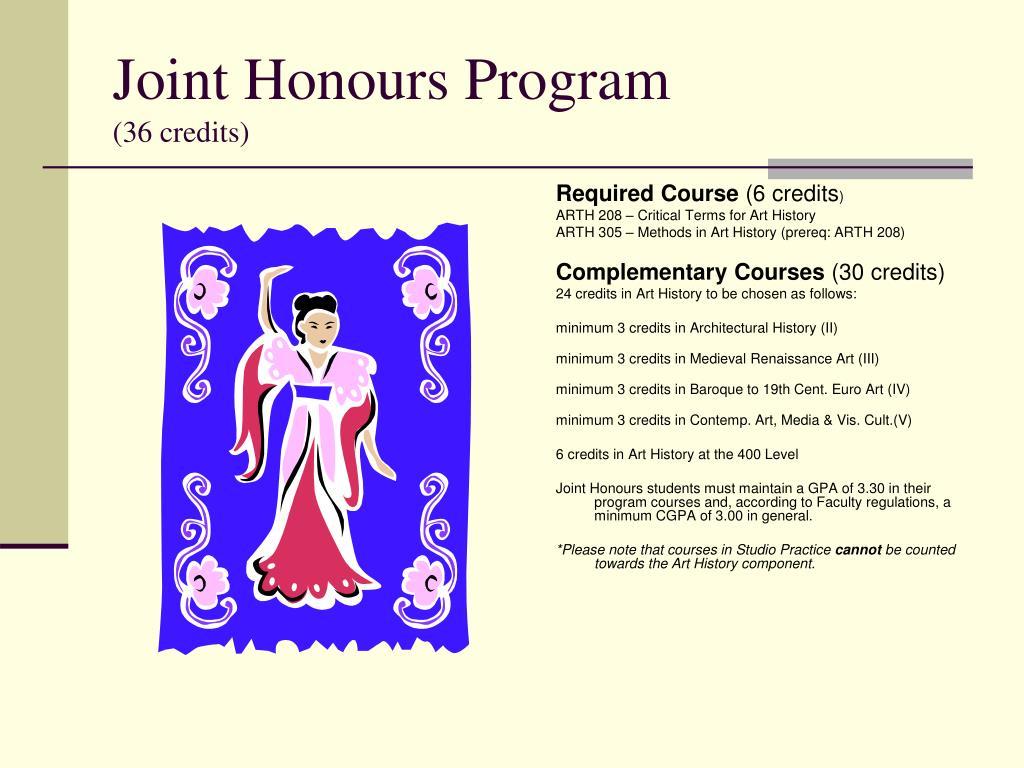 Joint Honours Program